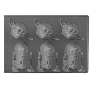 Star Wars Silicone Ice Cube Tray: Yoda and R2-D2 - Multi