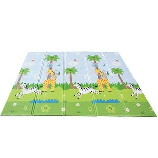 Link to Fantasy Fields - Safari Animal Baby Crawling Play Mat - Multi-Color - 60.63 x 0.39 x 77.56 Inches Similar Items in Activity Gear