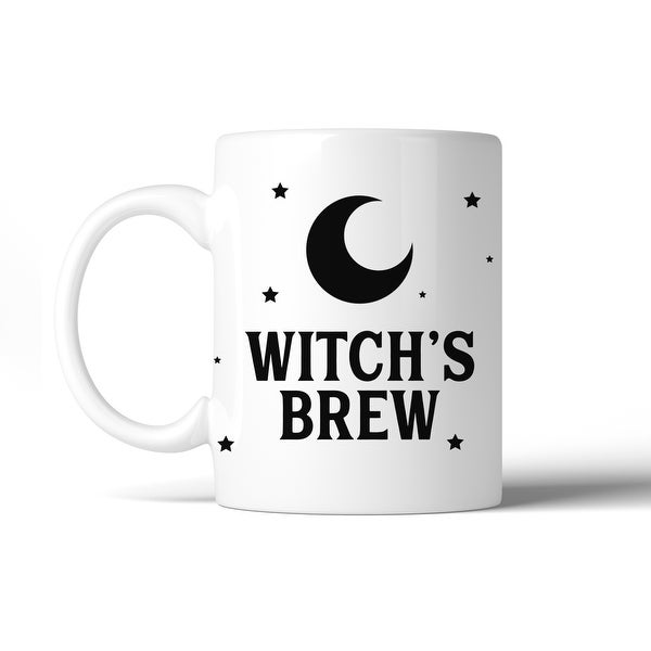 Witch's Brew Pattern Gift Coffee Mug 11 oz Funny Ceramic Mug White