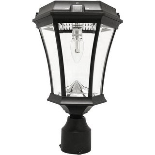 Gama Sonic 94B033 (GS-94B-FPW) Victorian Bulb Solar Lamp with GS Solar Light Bulb, Black