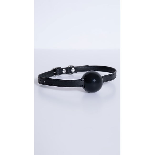 Lux Fetish Silicone Ball Gag - Black - One Size Fits Most