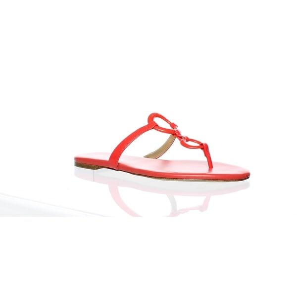 Michael Kors Silver Flip Flops