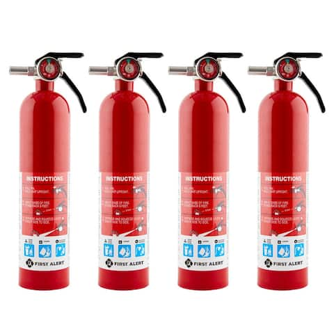 "First Alert Home Fire Extinguisher (4 Pack), Rated 1-A 10-B C, Model HOME1 - 3.3"" x 3.3"" x 14.3"""