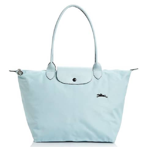LongChamp Womens Le Pliage Large Shoulder Tote Bag Nuaga Blue