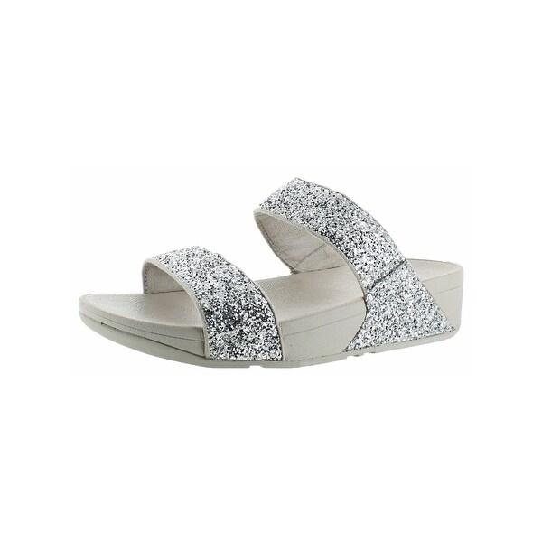 47ba1d942 Fitflop Womens Glitterball Slide Slide Sandals Nubuck Slip On - 6 Medium  (B