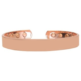 Pure Copper Smooth Finish 8 Magnet OSFM Bracelet, Copper