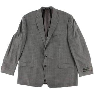 Lauren Ralph Lauren Mens Glen Plaid Notch Collar Sportcoat - 48R