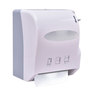 Costway Roll Paper Towel Dispenser Wall Mount Heavy Duty Commercial Home Use White
