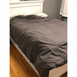 Bare Home 100% Velvety Soft Cotton Flannel Duvet Cover & Sham Set
