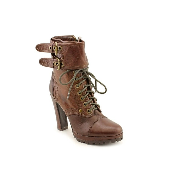 Dolce Vita Joelle Women Round Toe Leather Brown Mid Calf Boot