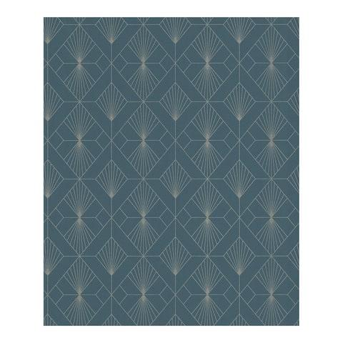 Henri Dark Green Geometric Wallpaper - 20.5 x 396 x 0.025