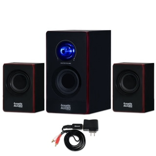 Acoustic Audio AA2103 Home 2.1 Speaker System with Bluetooth for Multimedia or Computer