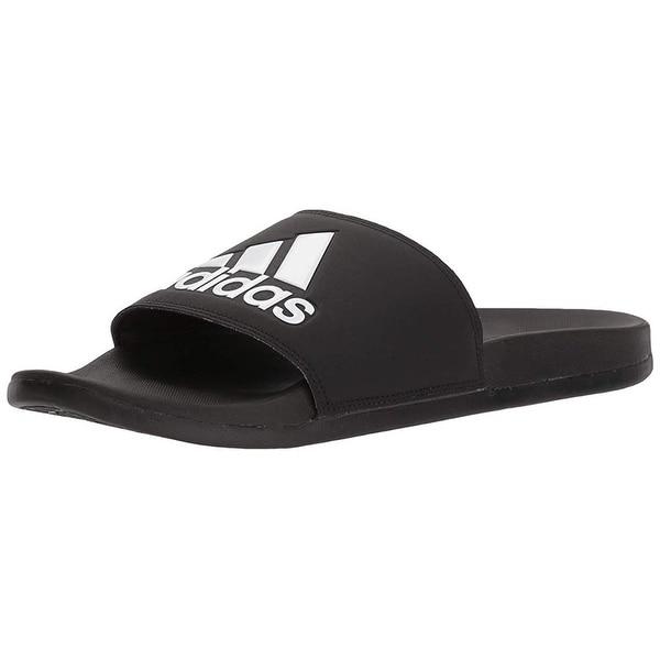 buy cheap bafc7 85886 Adidas Men  x27 s Adilette Comfort Slide Sandal Black White, 11 M