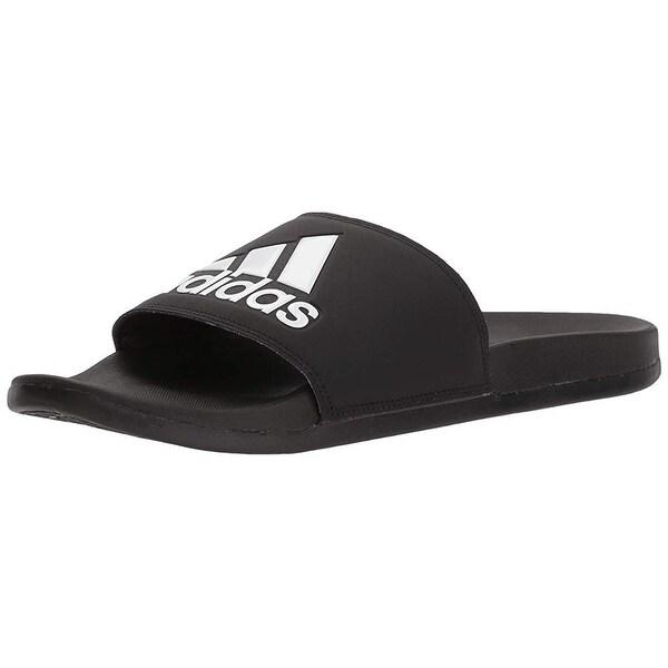 new arrival 39123 15642 Adidas Men  x27 s Adilette Comfort Slide Sandal Black White, ...