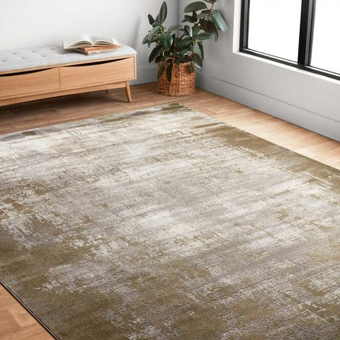 Alexander Home Mason Abstract Modern Distressed Rug