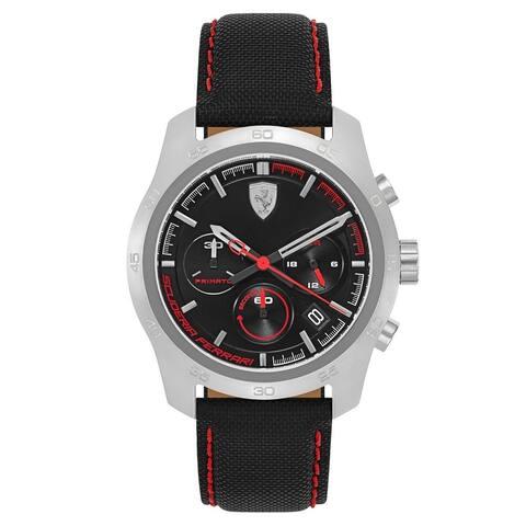 Ferrari Men's 830444 'Primato' Chronograph Black Nylon Watch