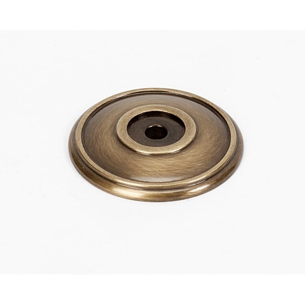 Alno A1564 Classic Traditional 1-5/8 Inch Diameter Round Cabinet Knob Backplate