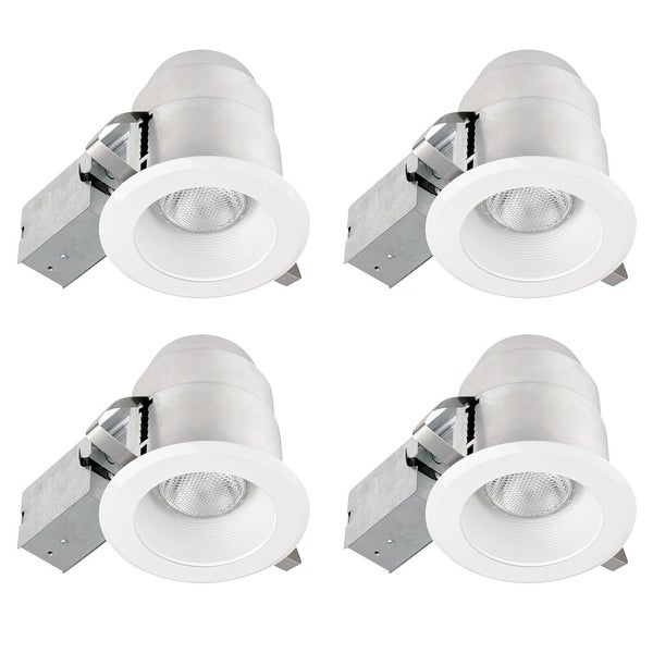 Globe Electric 91014 1 Light Recessed Lighting Kit 4 Pack Includes Trim Housing