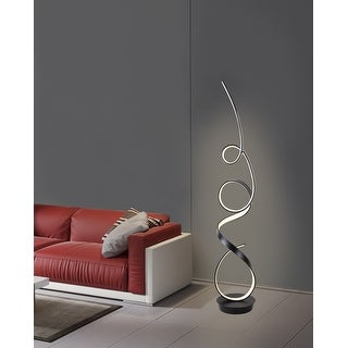 Link to Unique Modern Integrated LED Floor Lamp, matte black - 63.00 Similar Items in Floor Lamps