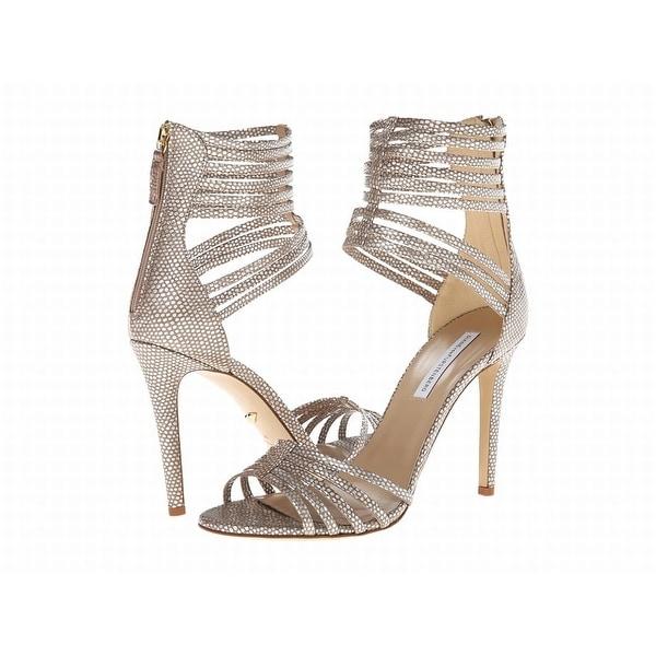 Diane von Furstenberg NEW Silver Shoes Size 9.5M Strappy Heels