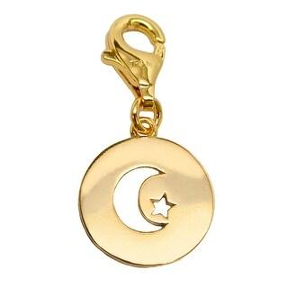 Julieta Jewelry Moon & Star Disc Clip-On Charm