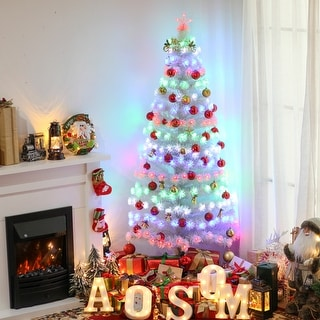 Link to Artificial Christmas Tree Multi-Colored Fiber Optic LED Pre-Lit Holiday Home Decoration Similar Items in Christmas Greenery