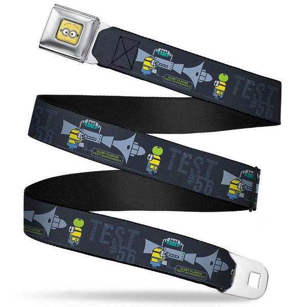 Minion Dave Face Close Up Full Color Despicable Me Minion Testing Test #56 Seatbelt Belt