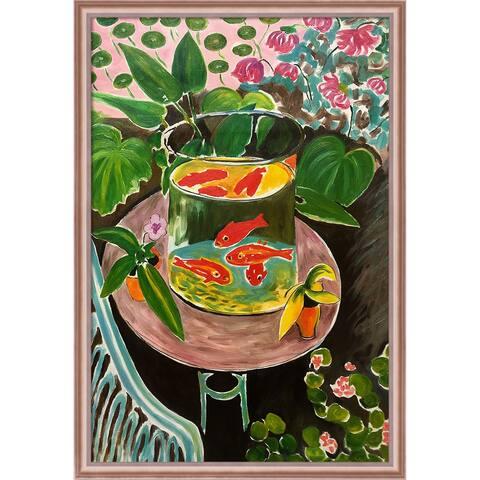 """La Pastiche The Gold Fish with Rose Gold Classico Frame, 27"""" x 39"""""""