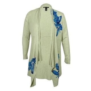 INC Women's Open-Front Cardigan Sweater - botanical peony