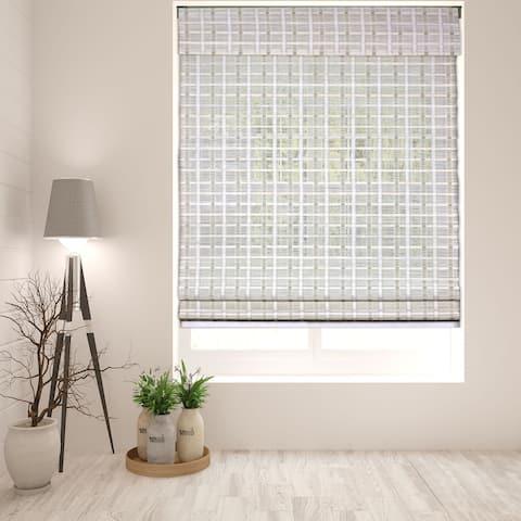 Arlo Blinds Cordless Lift Whitewash Bamboo 60-inch Roman Shade