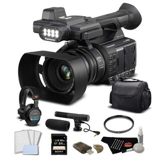 Panasonic AG-AC30 HD Camcorder with Touch LCD Screen and Built in LCD Light Basic Bundle
