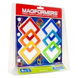 Magformers Square Magnetic Construction Set 6-Piece