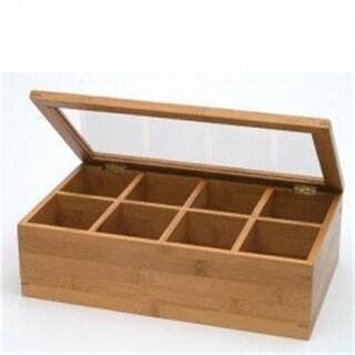 Lipper 8189 Bamboo Acrylic Adj. Tea Box