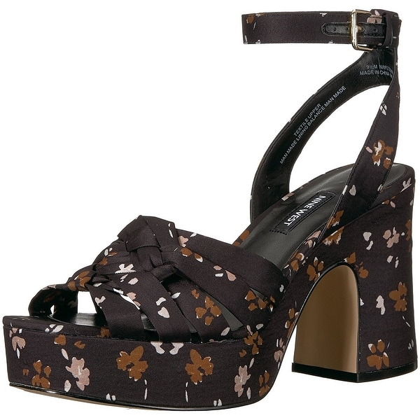 Nine West Womens fetuchini Fabric Open Toe Casual Ankle Strap Sandals