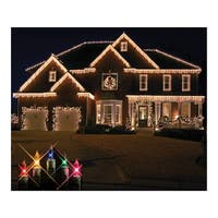 Christmas at Winterland WL-IC100-M 100 Light Incandescent Multicolor Icicle String