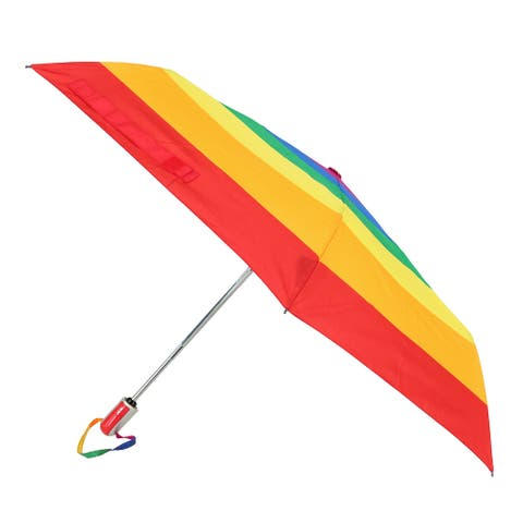 ShedRain Auto Open and Close Rainbow Stripe Compact Umbrella - one size