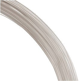 1 Oz. (76 Ft.) Sterling Silver Wire 26 Gauge - Round-Dead Soft