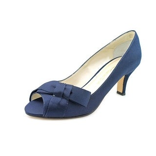 Caparros Iberia Women W Peep-Toe Canvas Blue Heels