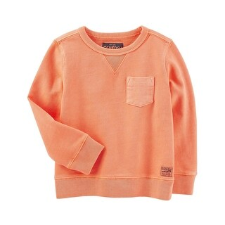 OshKosh B'gosh Little Boys' French Terry Sweatshirt, Orange, 4-Toddler