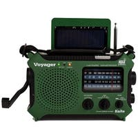 4-Way Powered Emergency Weather Alert Radio With Cell Phone Charger - Green