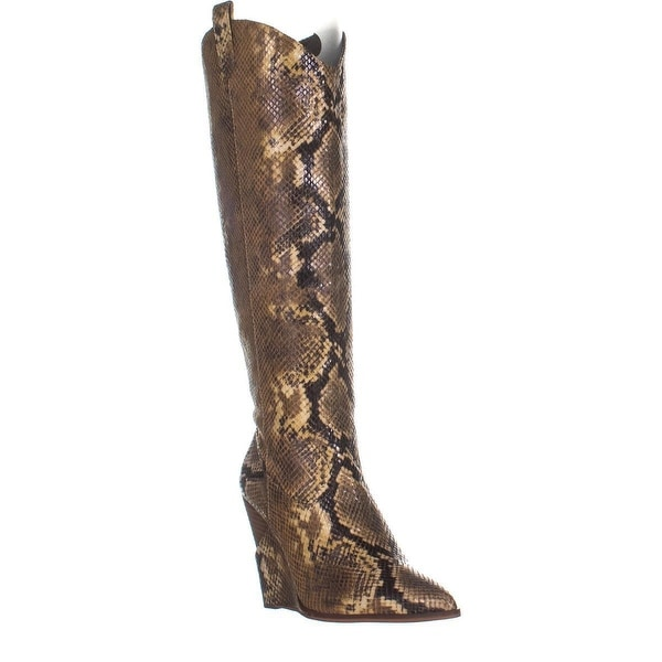 54531bc36 Shop Jessica Simpson Havrie Knee-High Wedge Boots, Totally Taupe ...