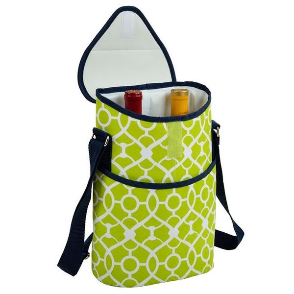 6d829577c0a9 Shop Picnic at Ascot 412-TG Trellis GreenTwo Bottle Tote - Trellis Green -  Free Shipping On Orders Over  45 - Overstock.com - 23373291