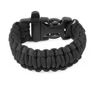 """Unique Bargains 9"""" Girth Plastic Side Release Closure Survival Bracelet Black"""