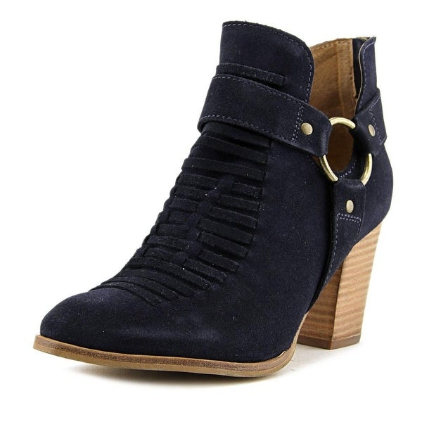 Seychelles Impossible Women Pointed Toe Suede Blue Ankle Boot