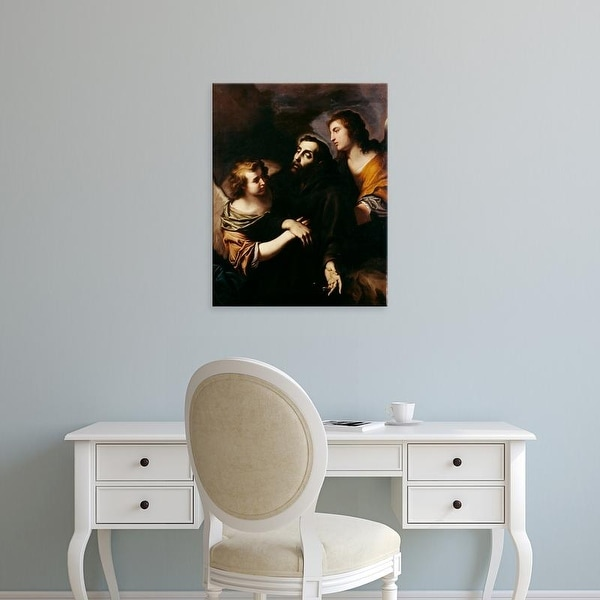 Easy Art Prints Pietro Novelli's 'Saubt Francis of Assisi in Ecstasy' Premium Canvas Art