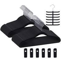 Velvet Hangers Suit/Shirt  Heavy Duty Hangers- Non Slip &Ultra Thin Hangers Sets
