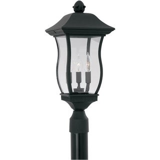 "Designers Fountain 2726-BK 3 Light 9"" Cast Aluminum Post Wall Lantern from the Chelsea Collection"