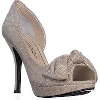 Caparros Lucky Platform Mesh Dress Sandals, Nude - 7.5 us