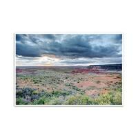 Painted Desert - Petrified Forest National Park, Arizona  - Capturing America - 36x24 Matte Poster Print Wall Art