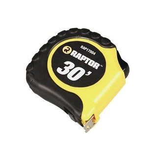 Raptor Tools RAP17004 30' Tape Measure with Rubber Casing and Belt Clip